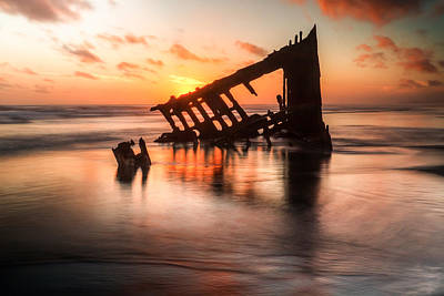 Peter Iredale Photograph - Sunset Glow 0016 by Kristina Rinell
