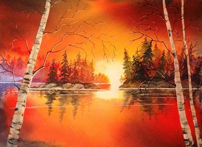 Sunset Glow Art Print by Marilyn Jacobson