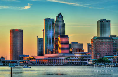 Tampa Skyline Photograph - Sunset Glow by Marvin Spates