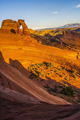 Sunset Glow On Delicate Arch Art Print