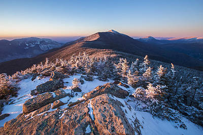 Sunset Glow On Franconia Ridge Art Print