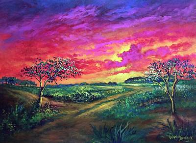 Painting - Sunset Glow by Randol Burns