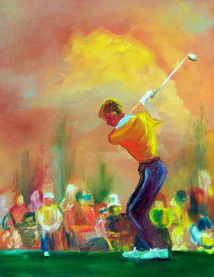 Swing Painting - Sunset Golf by Lynda McDonald