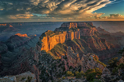 Photograph - Sunset Grand Canyon 7r2_dsc1788_08132017 by Greg Kluempers