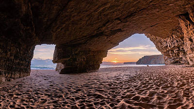 Photograph - Sunset Grotto On Praia Do Beliche by Dmytro Korol