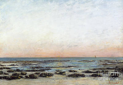 Nature Scene Painting - Sunset by Gustave Courbet