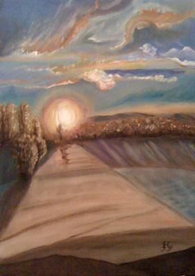 Painting - Sunset by Gyorgy Szilagyi