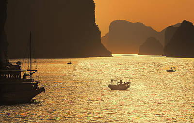 Chuck Kuhn Photograph - Sunset Ha Long Bay IIi by Chuck Kuhn