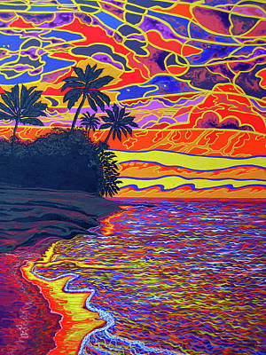 Painting - Sunset Hawaii by Debbie Chamberlin