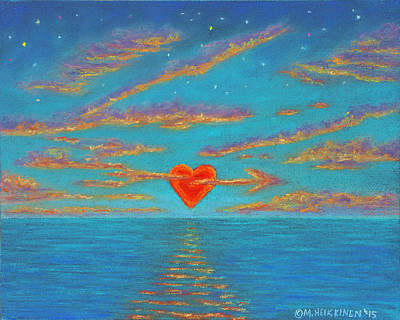 Pastel - Sunset Heart 01 by Michael Heikkinen