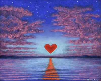 Pastel - Sunset Heart 02 by Michael Heikkinen