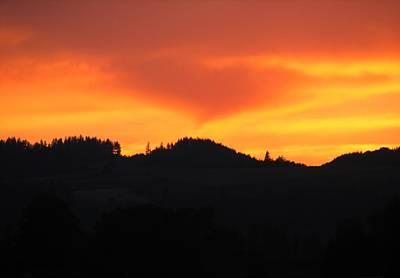 Photograph - Sunset Heart by Chris Dunn