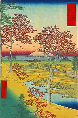 Ando Hiroshige Photograph - Sunset Hill by Padre Art