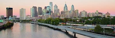 Photograph - Sunset Hue Over Philly by Frozen in Time Fine Art Photography