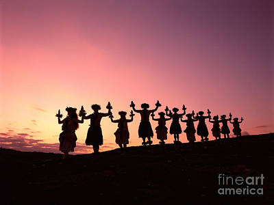 Photograph - Sunset Hula Halau by Carl Shaneff - Printscapes