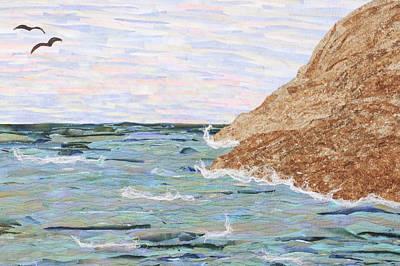 Tapestry - Textile - Sunset I by Pauline Barrett