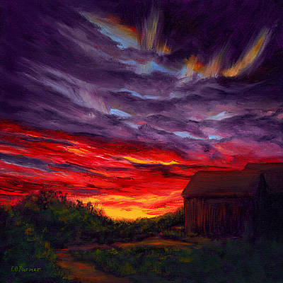 Sunset II Art Print by Elaine Farmer