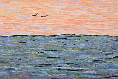 Tapestry - Textile - Sunset II by Pauline Barrett