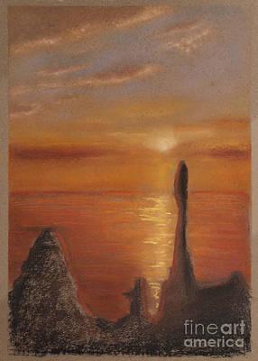 Pastel Painting - Sunset II by Tenka Lau