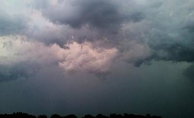 Photograph - Sunset Illuminated Lowering Storm  by Ally White
