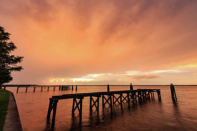 Photograph - Sunset Illuminated Storm Clouds by Stefan Mazzola