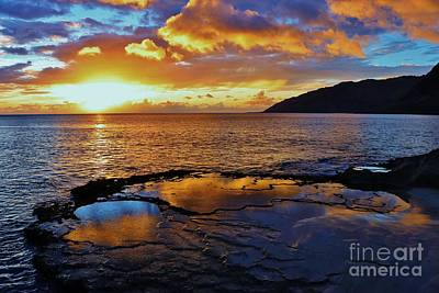 Photograph - Sunset In A Tide Pool by Craig Wood