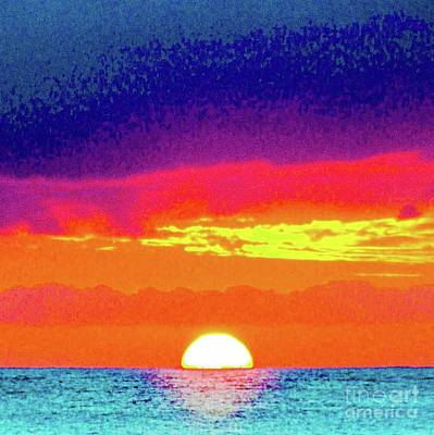 Photograph - Sunset In Abstract 500 by D Davila