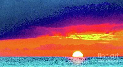 Photograph - Sunset In Abstract  by D Davila