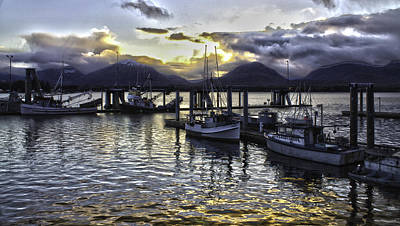 sunset In Alaska Art Print