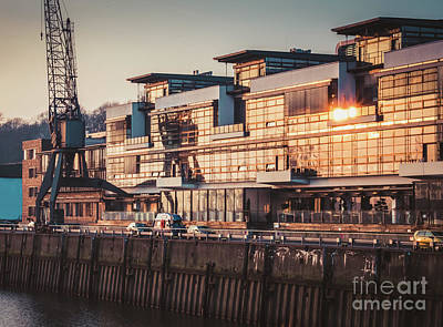 Sunset In Altona Hamburg Art Print