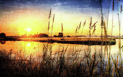Sunset In Amstelveen Art Print