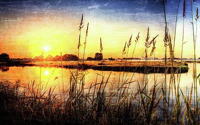 Sunset In Amstelveen Art Print