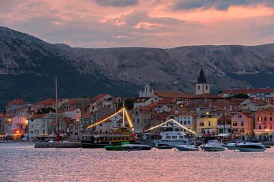 Mountains Photograph - Sunset In Baska, Croatia by Blaz Gvajc