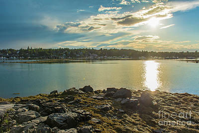 Photograph - Sunset In Bass Harbor by Jason Kolenda