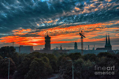 Photograph - Sunset In Berlin by Pravine Chester
