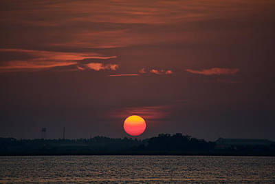 Photograph - Sunset In Biloxi 2 by Cathy Jourdan