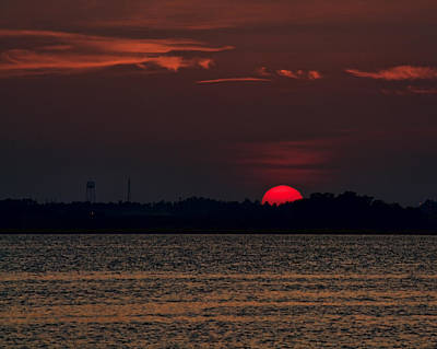 Photograph - Sunset In Biloxi 3 by Cathy Jourdan