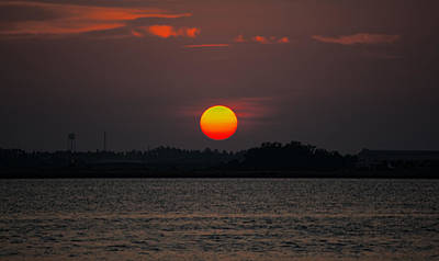 Photograph - Sunset In Biloxi by Cathy Jourdan