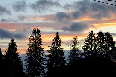 Photograph - Sunset In Blue And Pink by Karen Molenaar Terrell