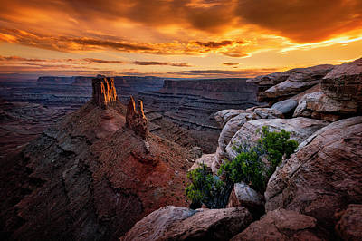 Photograph - Sunset In Canyonlands by Michael Ash