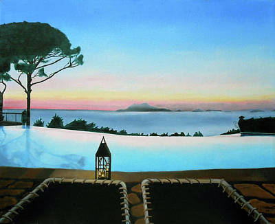 Infinity Pool Painting - Sunset In Capri by Jeffrey Phillips