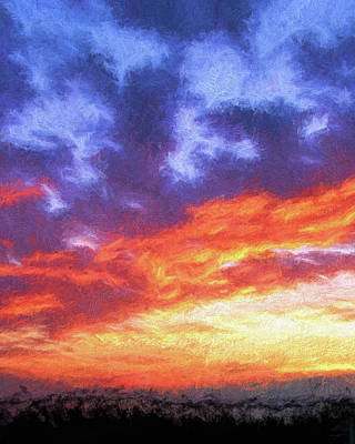 Sunset In Carolina Art Print