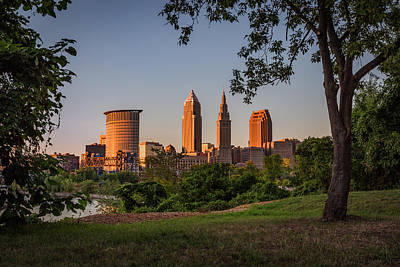 Photograph - Sunset In Cleveland Ohio by Dale Kincaid
