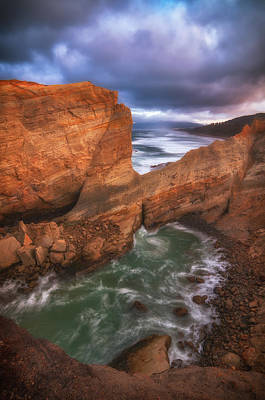 Photograph - Sunset In Cove by Darren White