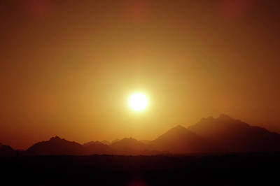 Sunset In Egypt 7 Art Print