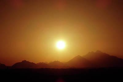 Sunset In Egypt 7 Art Print