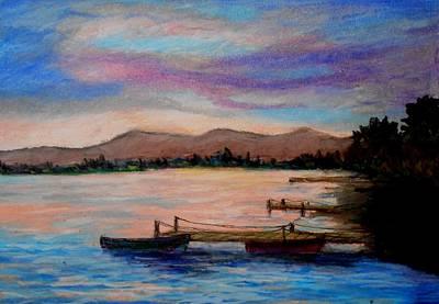 Sunset In Evia Art Print