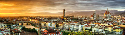Photograph - Sunset In Florence by Weston Westmoreland