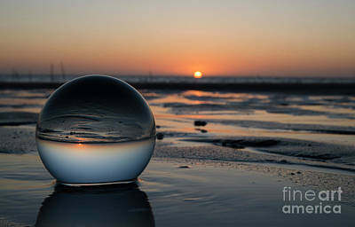 Photograph - Sunset In Glass Shpere by Compuinfoto