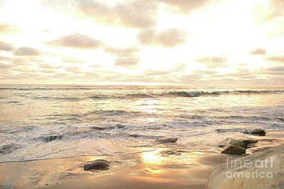 Photograph - Sunset In Golden Tones Torrey Pines Natural Preserves #1 by Heather Kirk